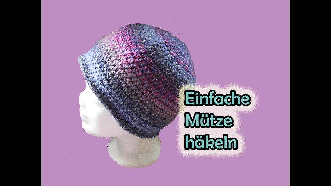Einfache Mütze Häkeln Romy Fischer Häkelanleitung Youtube