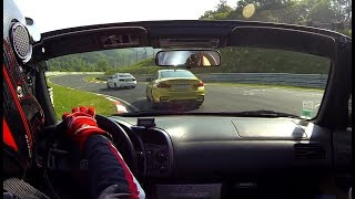 Honda S2000 chasing BMW M4 Pack Performance at Nurburgring nordschleife 20.05.2018 Touristenfahrten