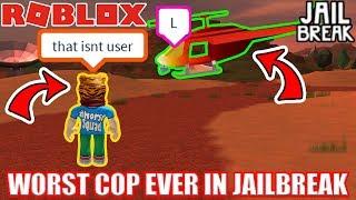 WORST COP EVER | Roblox Jailbreak
