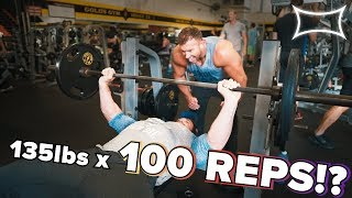 DESTRUCTIVE 100 REP BENCH Workout ft. Mike O'Hearn, Stan Efferding, Heath Evans, and Mark Bell