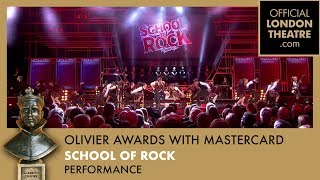 School of Rock The Musical performs at The Olivier Awards 2017 with Mastercard