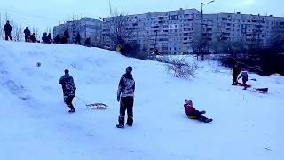 Дети,Смех,Радость!Зимние развлечения и прекрасное настроение на Салтовке  #Харьков