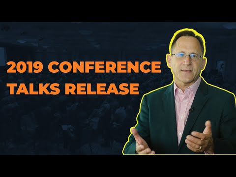 2019 Conference Talks YouTube Release Dates!