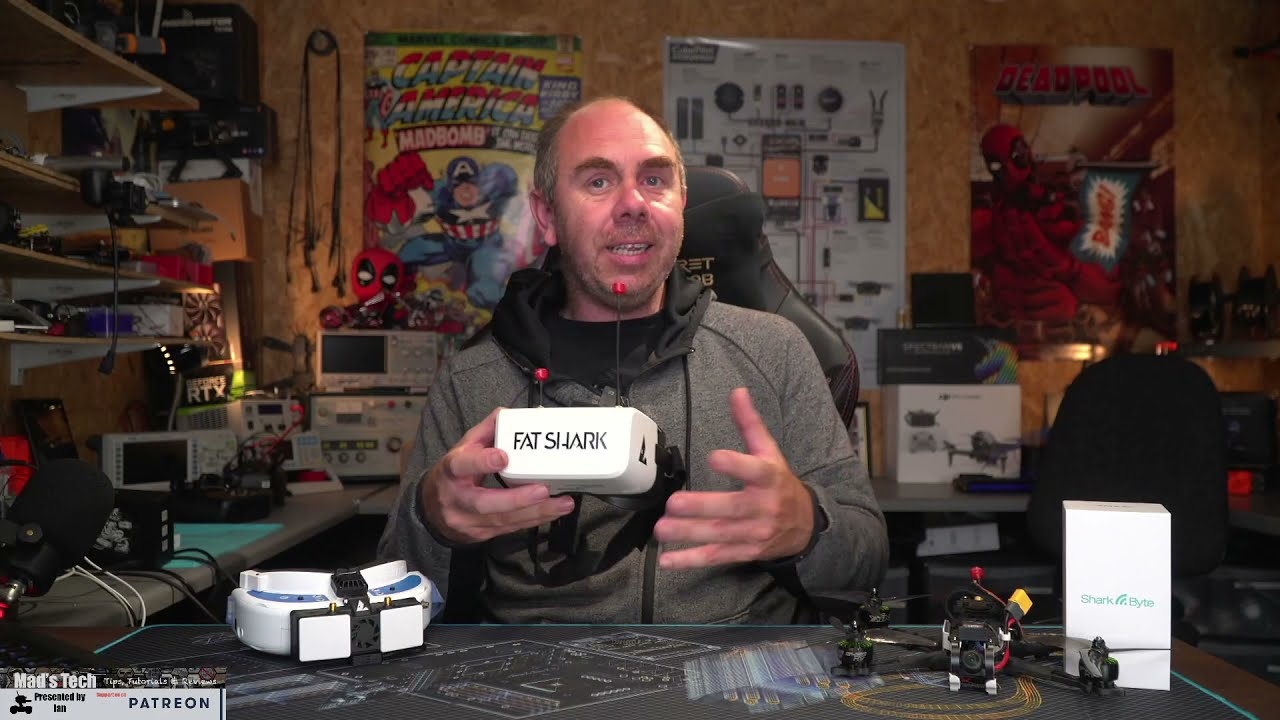 FAT SHARK SCOUT HD FPV GOGGLES REVIEW - HD FPV SYSTEM FOR $350 фотки