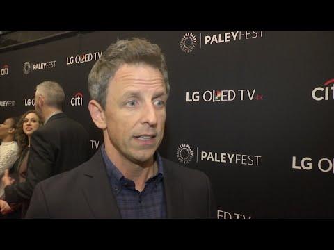 Meyers finds Weinstein jokes challenging