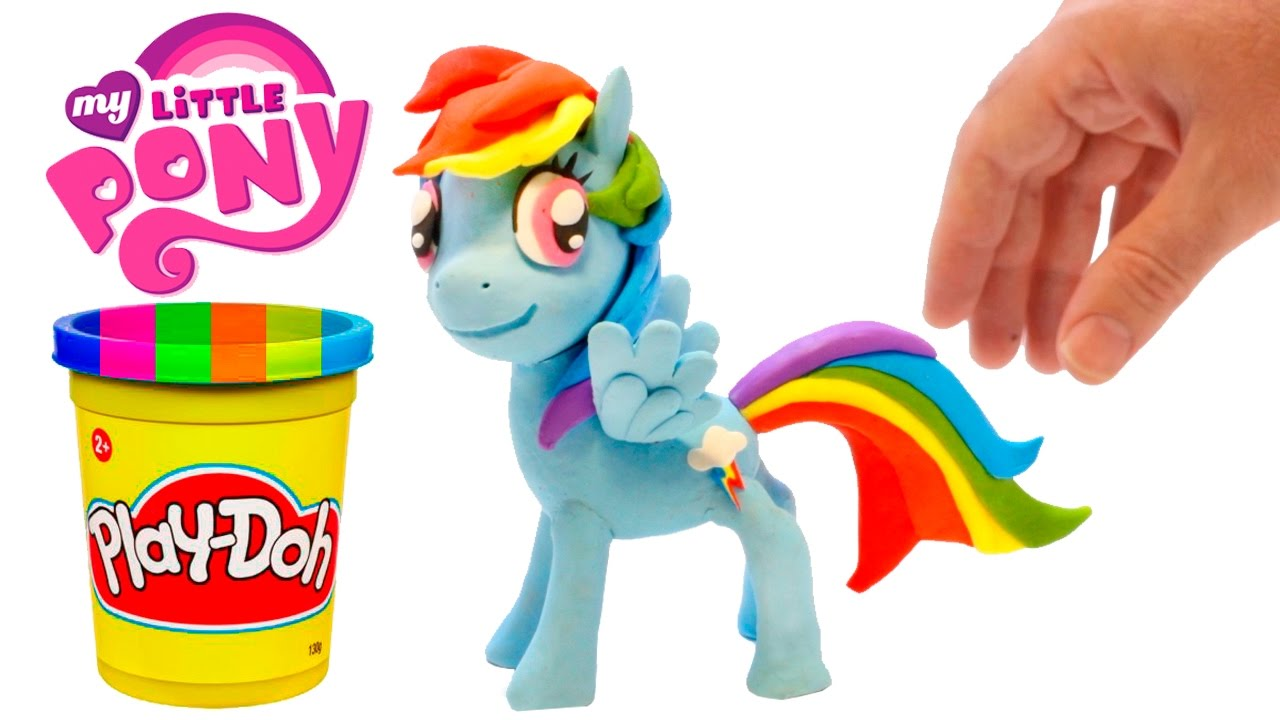 Play Doh Rainbow Dash Stop Motion Playdough My Little Pony Animation Youtube