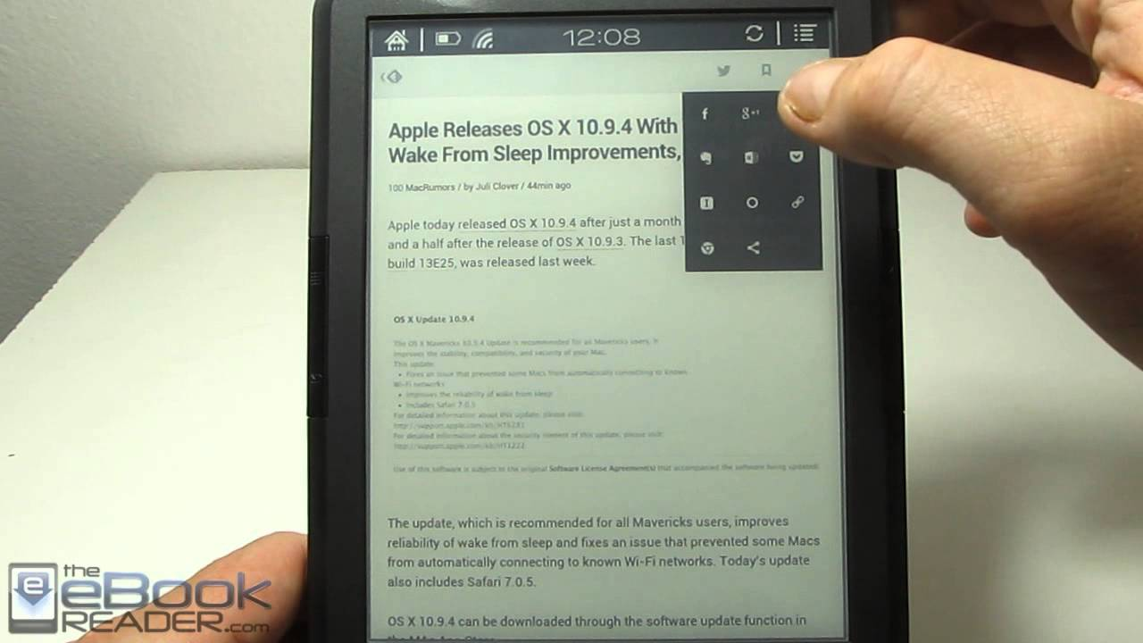 Onyx Boox T68 Feedly RSS App Review