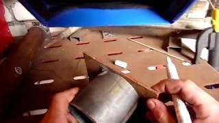 Как приварить пластину к торцу трубы (видео по просьбе)