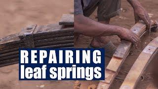 Restoring Leaf Springs of a Truck | Old Leaf Spring Replacing
