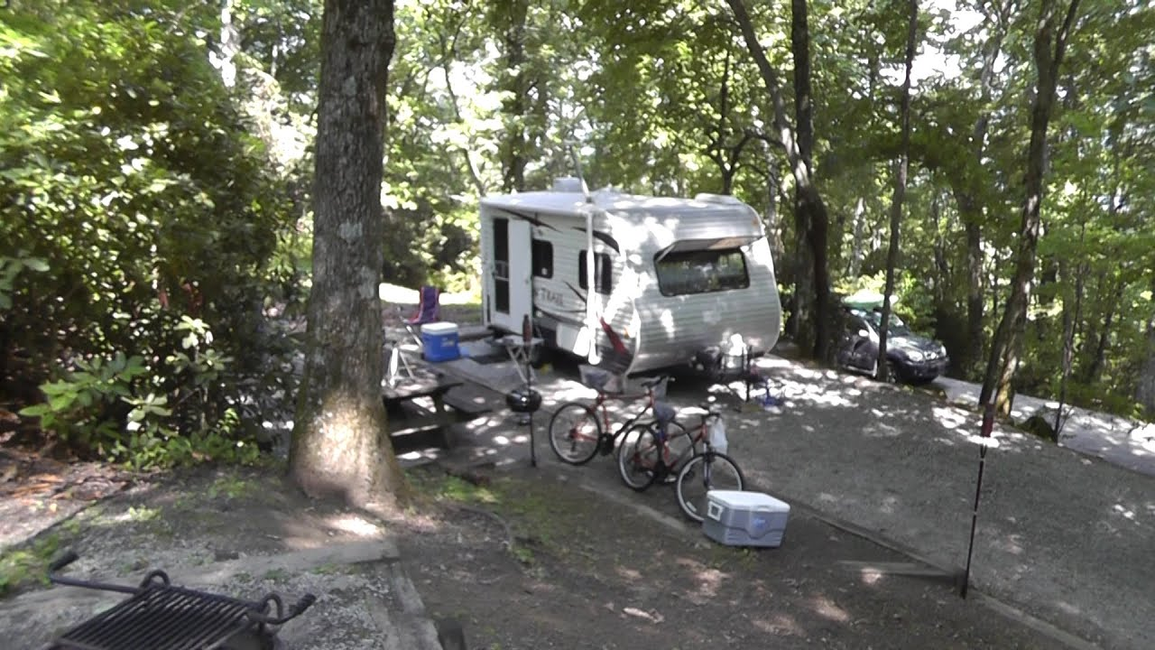 Camping At Black Rock Mountain State Park Campsite RV 1st Night