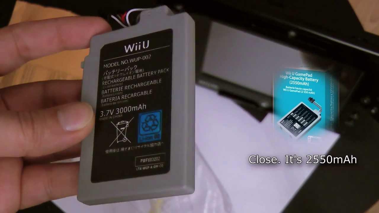Techy imdur 3rd party wii u gamepad battery part 1 youtube solutioingenieria Images