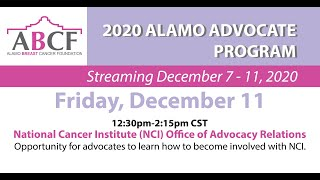 National Cancer Institute (NCI) Office of Advocacy Relations
