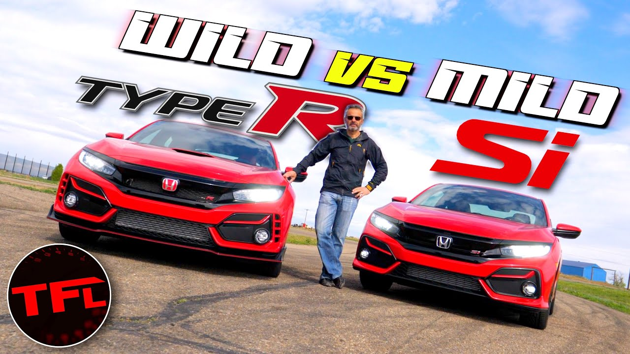 How Much Speed Does 12 000 Buy We Find Out 2020 Honda Civic Type R Vs Civic Si Hot Or Not Youtube