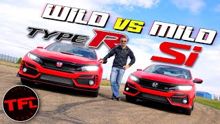 How Much Speed Does $12,000 Buy? We Find Out! 2020 Honda Civic Type R vs. Civic Si Hot or Not