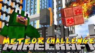 Minecraft City Destruction - METEORS HIT THE CITY !