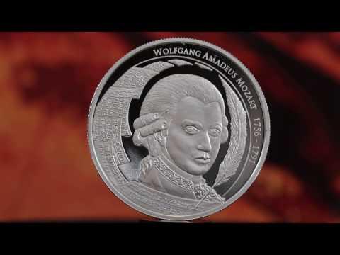 2017 Mozart (Philoro) silver bullion coin