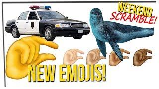 Weekend Scramble - Cops vs. Waze; New Emojis; USB Found in Seal Poo