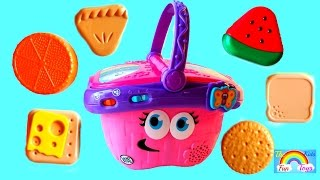 It's Learning Time at KidsFunToys with LeapFrog Shapes and Sharing Picnic Basket with Surprise Toys
