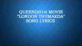 Song : London Thumakda (LYRICS)
