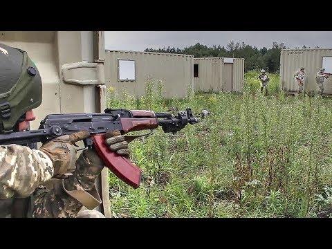 Ukrainian Soldiers Train To Fight: Urban Warfare Training