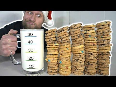 Download Youtube: 100 Cookies & Milk Challenge (8,000 Calories)