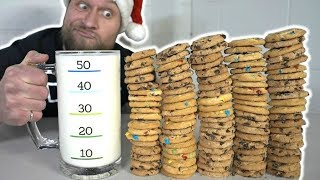 100 Cookies & Milk Challenge (8,000 Calories)