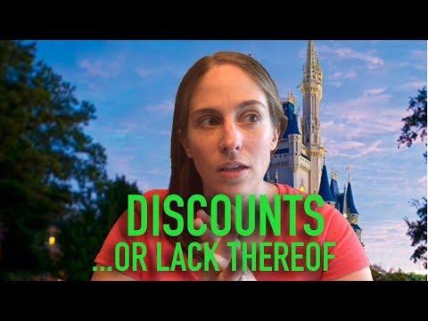 Walt Disney World Discounts ...Or Lack Thereof