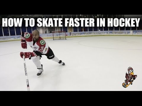 How To Skate Faster In Hockey Video Tutorial – Forward Stride Tips