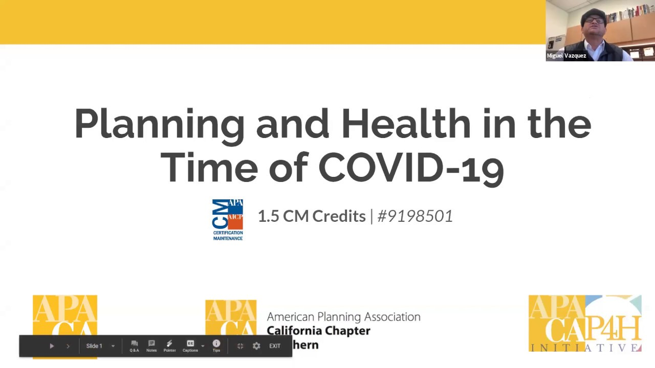 Planning and Health in the Time of COVID-19 Webinar Series