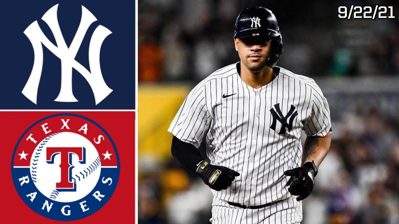 New York Yankees Vs. Texas Rangers   Game Highlights   9/22/21