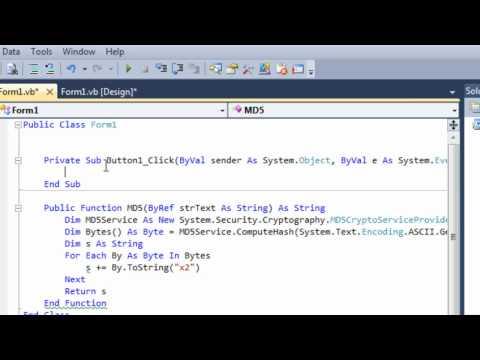 VB .NET - MD5 Hashing/String To MD5