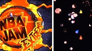 "NBA Jam Extreme (Arcade) Hidden ""Head-eroids"" Game"