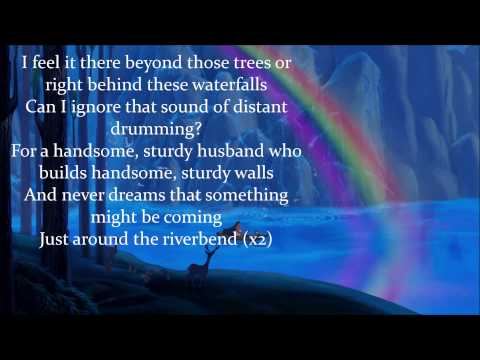 Just Around the Riverbend (w/ lyrics) From Disney's