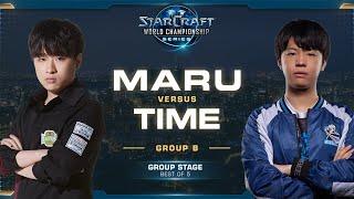 Maru vs TIME TvT - Group B - 2019 WCS Global Finals - StarCraft II