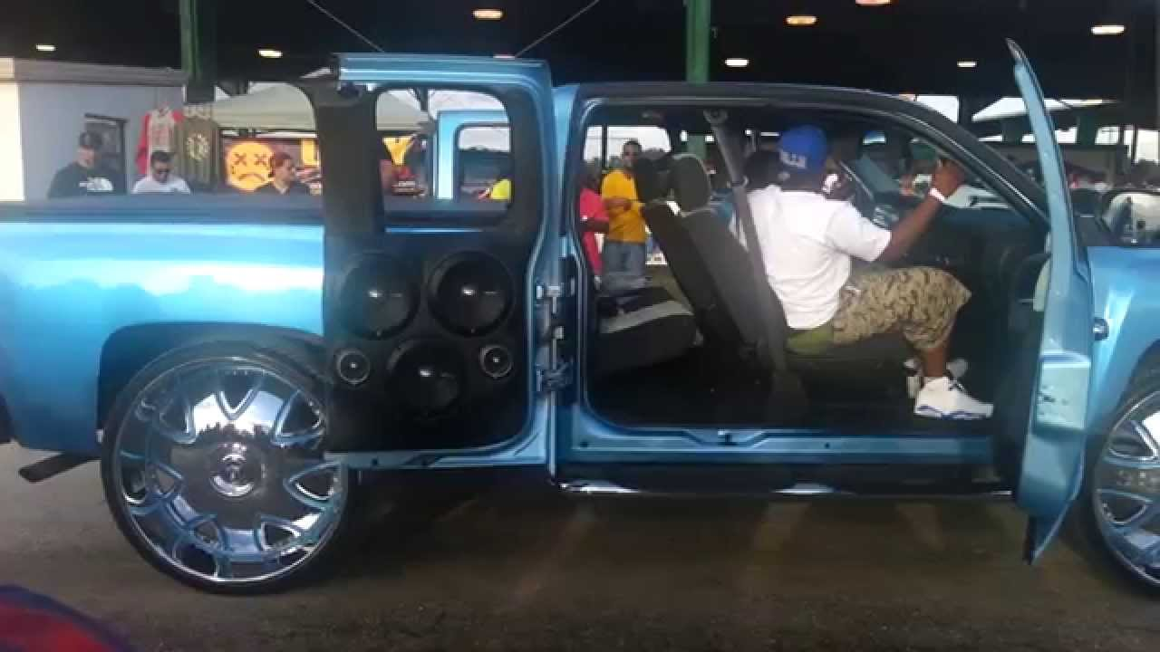 Riding Big Car Show 2014 CHEVY SILVERADO w/ BIG STEREO on ...