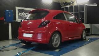 Reprogrammation moteur Opel Corsa GSI 1.6 T 150cv @ 208cv dyno digiservices