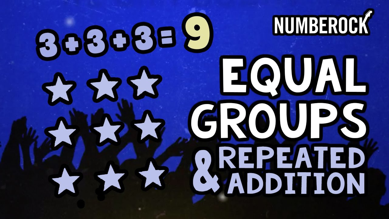 Equal Groups Multiplication Song   Repeated Addition Using Arrays - YouTube [ 720 x 1280 Pixel ]