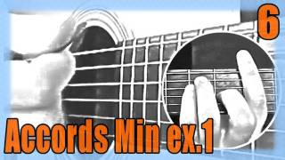 """Cours de Guitare pour Débutants : """"Les accords Mineurs - exercice 1 : Am / Dm / Em"""""""