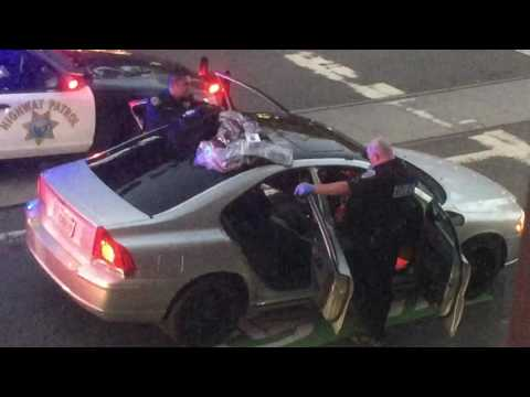 End of police chase in San Francisco from shooting at Pet Smart in San Mateo