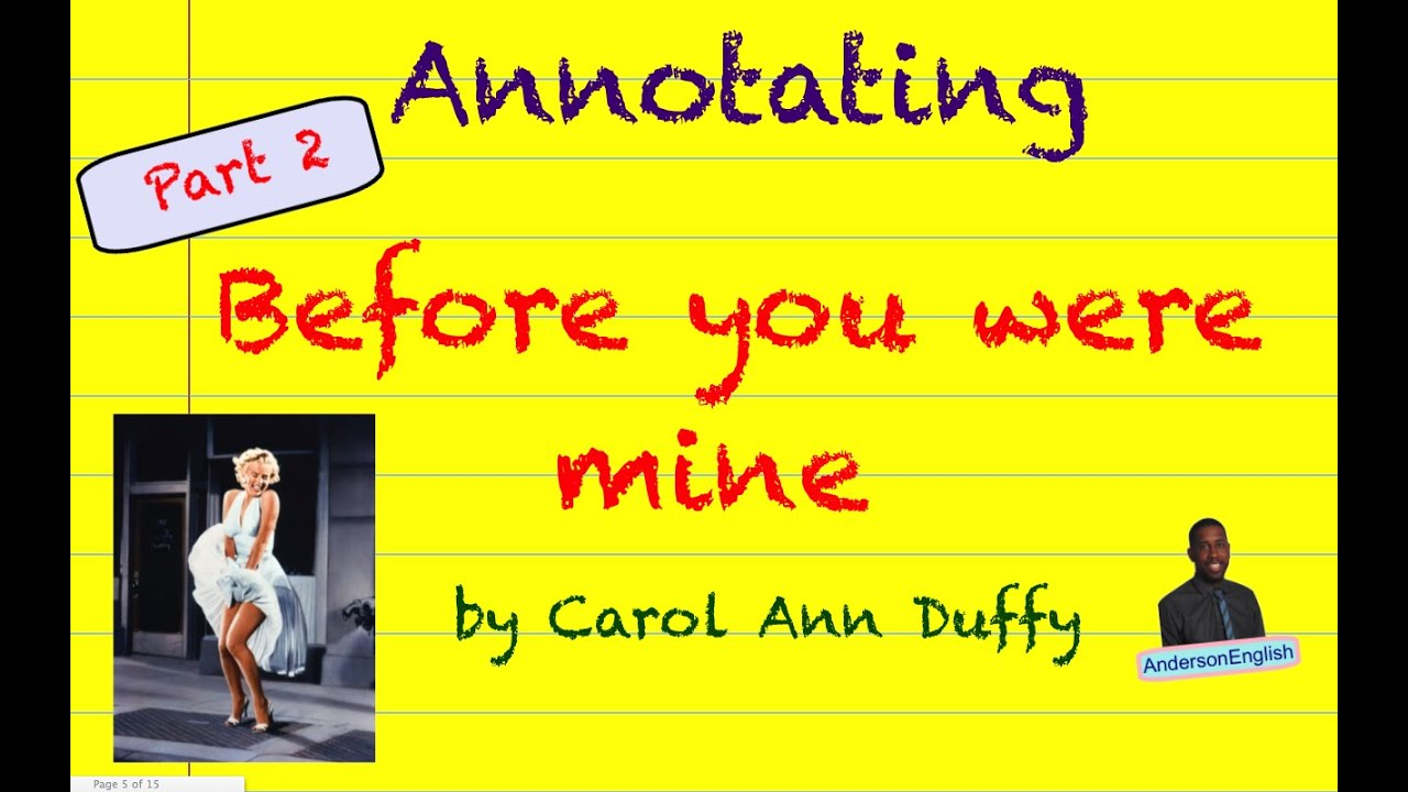 analysis of before you were mine essay We will write a cheap essay sample on before you were mine specifically for before you is a medley of breads and spices that character analysis of the.