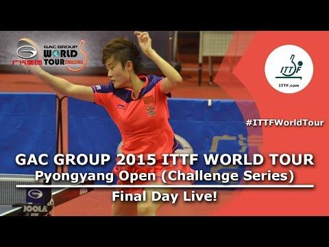 2015 ITTF World Tour Pyongyang Open - Final Day Afternoon