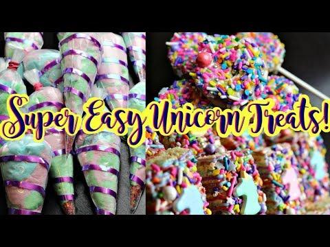 🦄3 Super Easy 🦄Unicorn Treats🦄