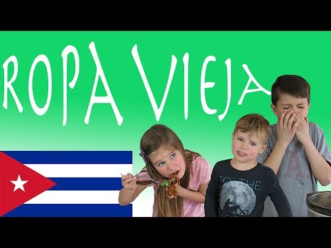 American Kids try food from Cuba | Ropa Vieja
