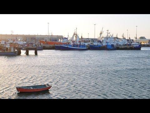 The harbour of Lüderitz, Namibia