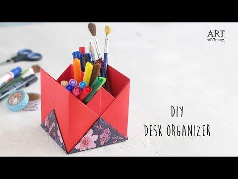 DIY Desk Organizer   Back to school  Ventunoart