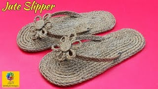 How to make Slippers With Jute | Shoes Made By Jute | Best Out Of Waste Jute Craft