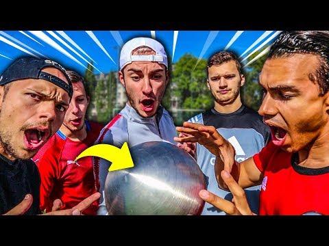 EXTREME FUßBRUCH FUßBALL CHALLENGE MIT METALL-BALL!