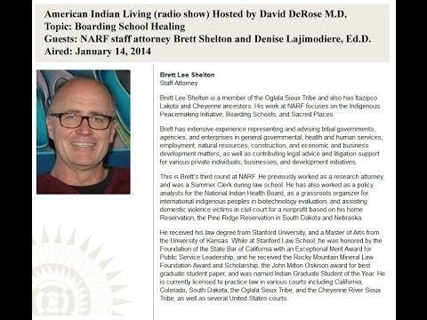 American Indian Living : Boarding School Healing (radio)