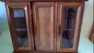 Vintage Jewelry Dresser With Drawers Cabinets Hangers And Mirrors