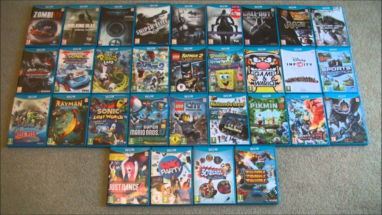 Out For Wii U Games : Nintendo wii u game collection youtube